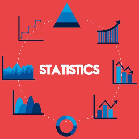 Ilustración de Statistics design, Infographic data information business analytics and visual presentation theme Vector illustration - Imagen libre de derechos
