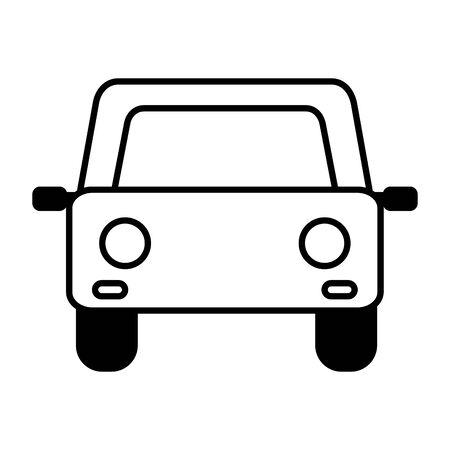 Illustration pour car vehicle transport on white background vector illustration - image libre de droit