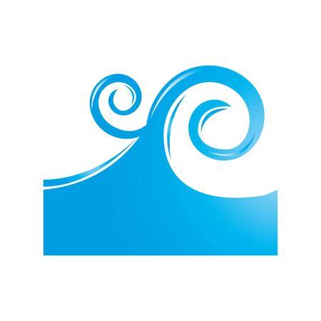 Ilustración de sea wave isolated icon vector illustration design - Imagen libre de derechos