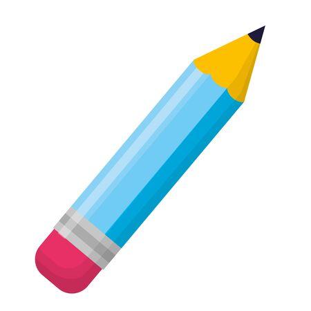 Illustrazione per pencil supply school on white background vector illustration - Immagini Royalty Free
