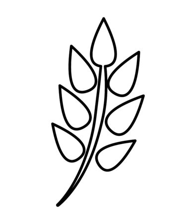 Illustration for decorative leafs plant isolated icon vector illustration design - Royalty Free Image