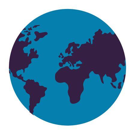Illustration for world map on white background vector illustration - Royalty Free Image