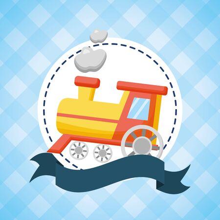 Illustration pour toy train  illustration - image libre de droit