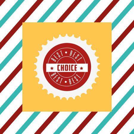 Illustrazione per Best choice tag illustration - Immagini Royalty Free