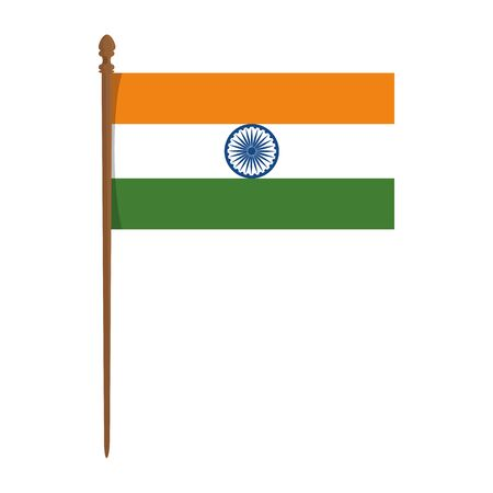Illustration pour indian flag country isolated icon vector illustration design - image libre de droit