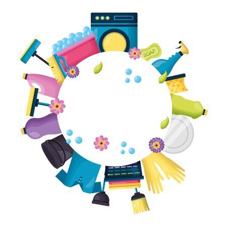 Illustration pour spring cleaning product equipment vector illustration vector illustration - image libre de droit