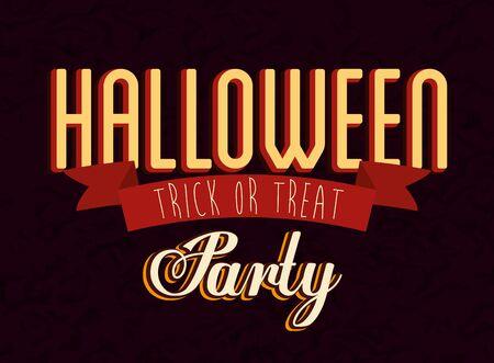 Illustrazione per poster of party halloween celebration vector illustration design - Immagini Royalty Free