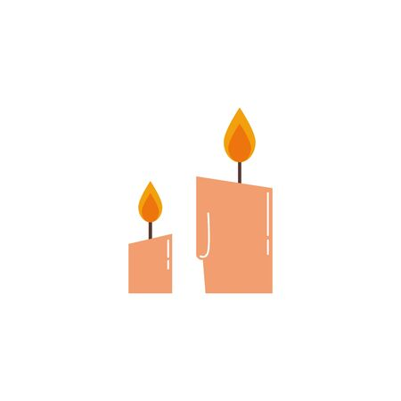 Illustration for paraffin candle halloween isolated icon vector illustration design - Royalty Free Image