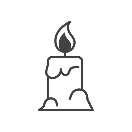 Illustration for parafin candle halloween isolated icon vector illustration design - Royalty Free Image