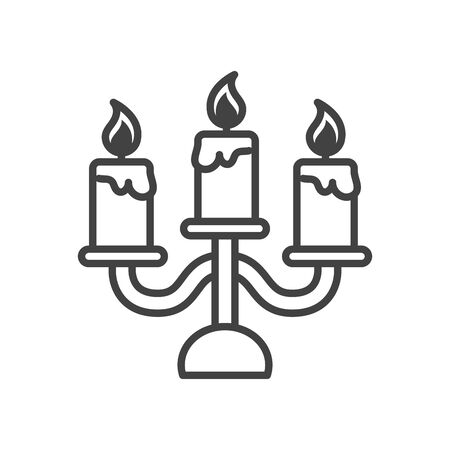 Illustration for chandelier with candles isolated icon vector illustration design - Royalty Free Image