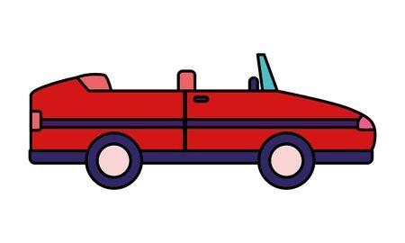 Illustration pour sport convertible car vehicle transport white background vector illustration - image libre de droit