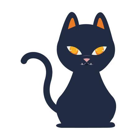 Illustrazione per halloween cat mascot seasonal icon vector illustration design - Immagini Royalty Free