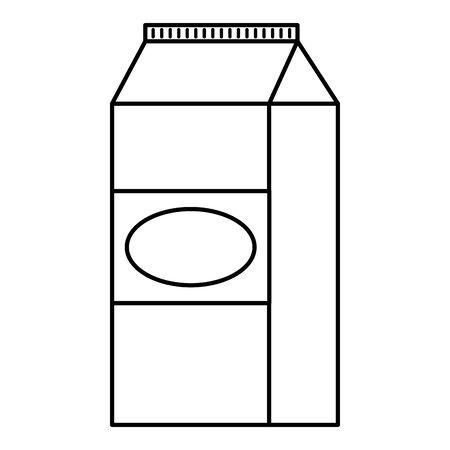 Illustration for milk box packing icon vector illustration design - Royalty Free Image