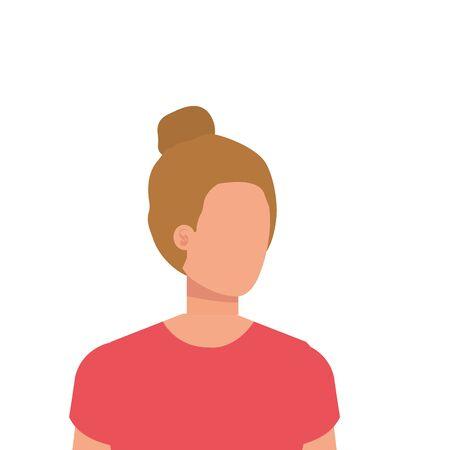 Ilustración de beautiful and young woman character vector illustration design - Imagen libre de derechos
