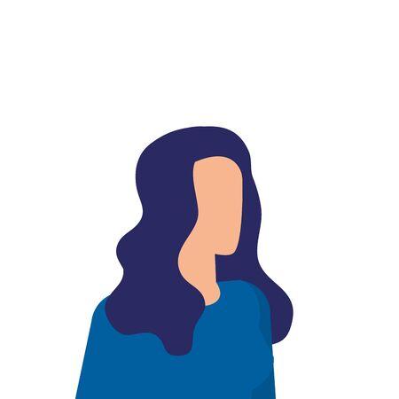 Ilustración de elegant businesswoman worker avatar character vector illustration design - Imagen libre de derechos