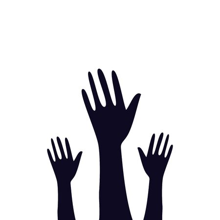 Illustrazione per hands of zombie for halloween vector illustration design - Immagini Royalty Free