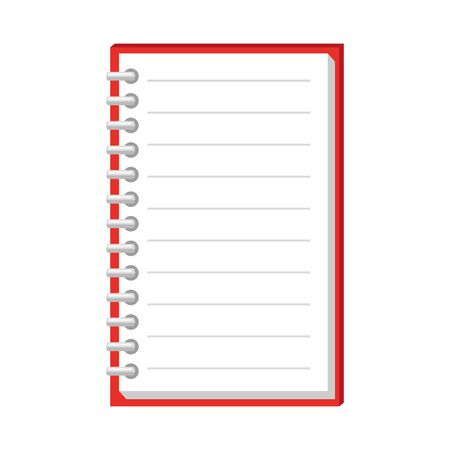 Illustration for note book school supply icon vector illustration design - Royalty Free Image
