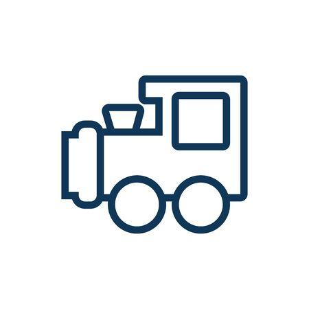 Illustration pour cute train child toy line style icon vector illustration design - image libre de droit