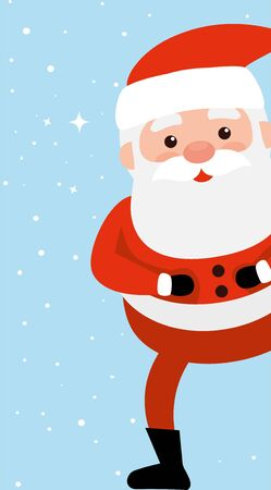 Illustration for merry christmas santa claus character vector illustration design - Royalty Free Image