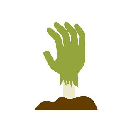 Illustrazione per hand of zombie for halloween vector illustration design - Immagini Royalty Free