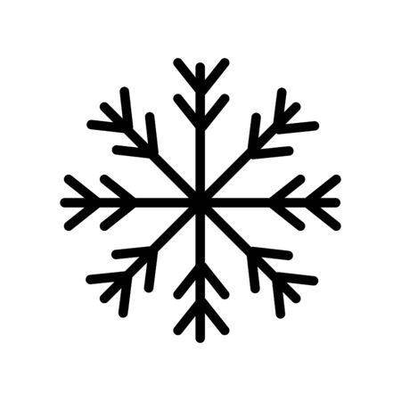 Illustration for snowflake christmas decoration isolated icon vector illustration design - Royalty Free Image