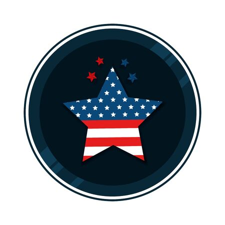 Illustration pour united states flag in star shape vector illustration design - image libre de droit
