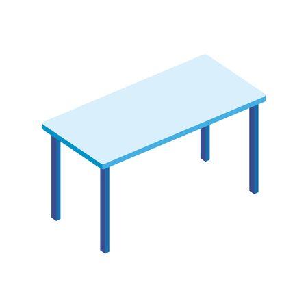 Ilustración de table rectangle furniture isolated icon vector illustration design - Imagen libre de derechos