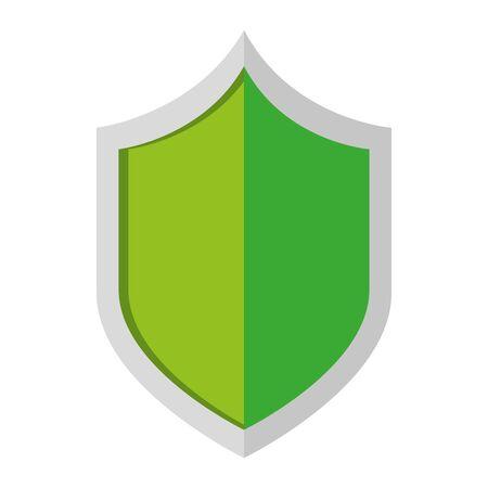 Illustrazione per security shield guard isolated icon vector illustration design - Immagini Royalty Free