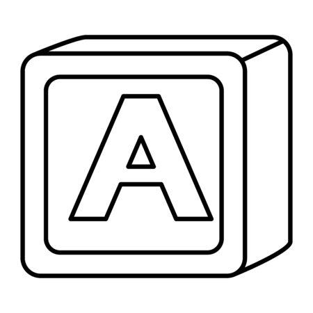 Ilustración de alphabet block toy baby with letter a vector illustration design - Imagen libre de derechos