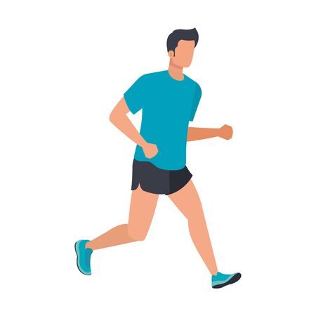 Foto de young athletic man running character vector illustration design - Imagen libre de derechos