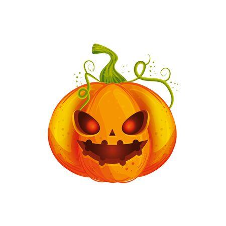 Illustrazione per halloween pumpkin traditional isolated icon vector illustration design - Immagini Royalty Free