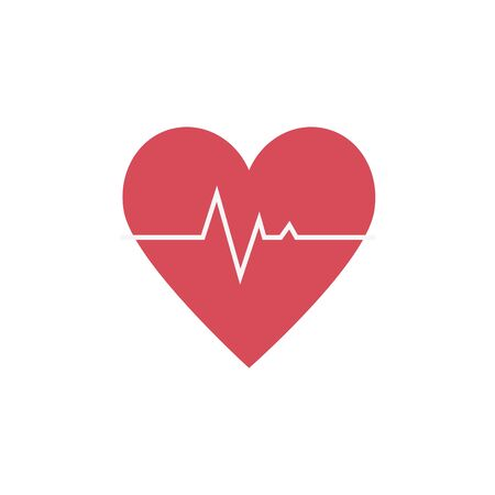 Illustration for heart rate pulse isolated icon vector illustration design - Royalty Free Image