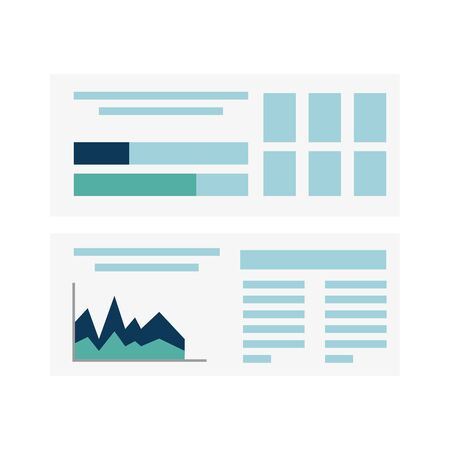 Ilustración de Workflow document design, Infographic data information business analytics and visual presentation theme Vector illustration - Imagen libre de derechos