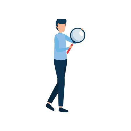 Ilustración de Businessman design, Man business management corporate job occupation and worker theme Vector illustration - Imagen libre de derechos