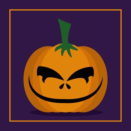 Illustrazione per halloween pumpkin with face icon vector illustration design - Immagini Royalty Free