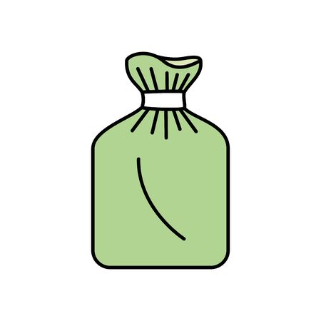 Illustration for bag of plastic isolated icon vector illustration design - Royalty Free Image