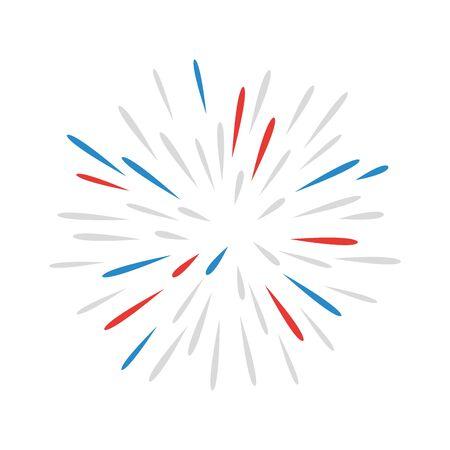 Illustration for fireworks splash explosion isolated icon vector illustration design - Royalty Free Image