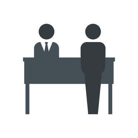 Ilustración de Hotel receptionist avatar icon design of travel service reception room resort accommodation motel lobby and vacation theme Vector illustration - Imagen libre de derechos