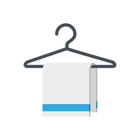Ilustración de Hotel hanger with towel icon design of travel service reception room resort accommodation motel lobby and vacation theme Vector illustration - Imagen libre de derechos