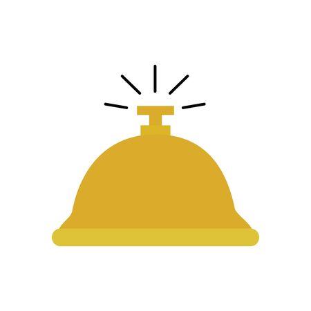 Ilustración de Hotel bell icon design of travel service reception room resort accommodation motel lobby and vacation theme Vector illustration - Imagen libre de derechos