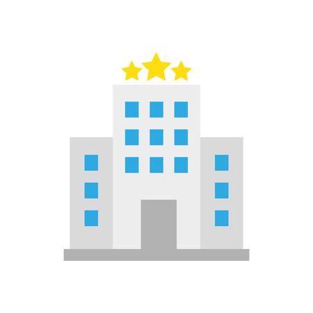 Ilustración de Hotel building icon design of travel service reception room resort accommodation motel lobby and vacation theme Vector illustration - Imagen libre de derechos