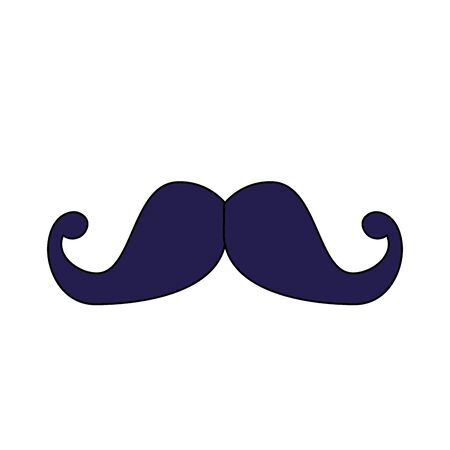 Illustrazione per Male mustache design, Hair gentleman man style face retro facial beard and fashion theme Vector illustration - Immagini Royalty Free