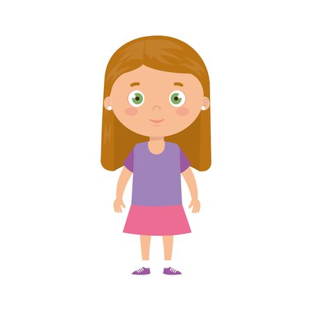 Illustration pour cute little girl avatar character vector illustration design - image libre de droit
