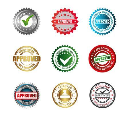 Illustration pour set of seal quality icons vector illustration design - image libre de droit