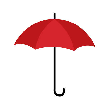 umbrella protection accessory isolated icon vector illustration design