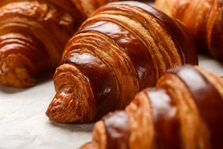 Foto de Macro view on French croissants - Imagen libre de derechos