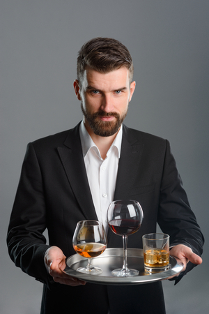 Foto de Young man at tasting session - Imagen libre de derechos