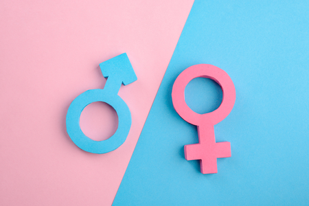 Foto de Male and female gender signs - Imagen libre de derechos