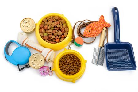 Foto de Pet products on white background - Imagen libre de derechos