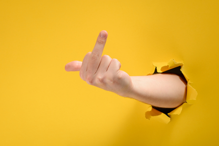 Photo for Hand showing middle finger - Royalty Free Image